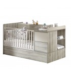 Lit chambre Sauthon XXL Taupe transformable