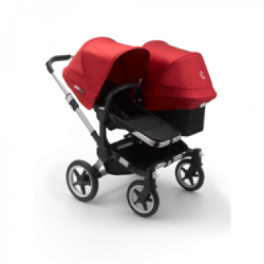 Nouvelle Poussette Double Bugaboo Donkey3 Duo Rouge châssis Alu