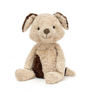 Chien Tuffet medium Jellycat beige, marron