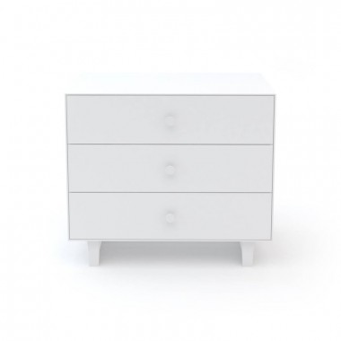 Commode Oeuf Merlin 3 tiroirs Blanc (White)