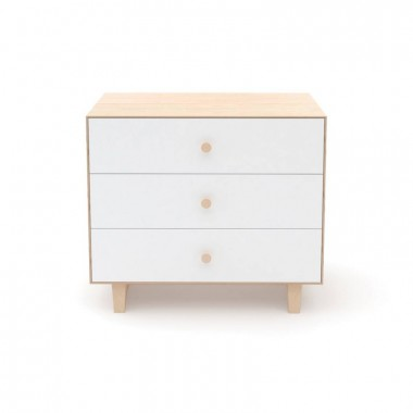 Commode Oeuf Merlin 3 tiroirs Naturel (Birch)