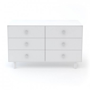 Commode Oeuf Merlin 6 tiroirs Blanc (White)