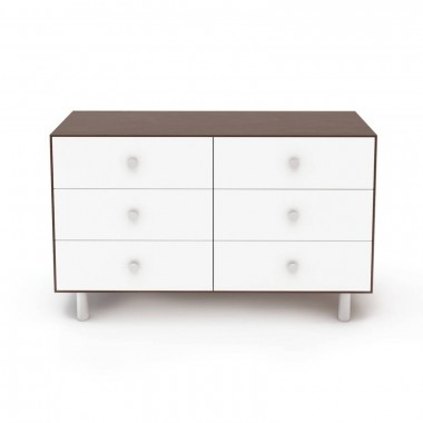 Commode Oeuf Merlin 6 tiroirs Noyer (Walnut)