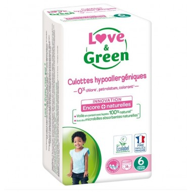 Couches Culottes écologiques Love and Green hypoallergéniques taille-6