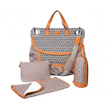 Sac à langer Magic Stroller Bag Glam Stars grey