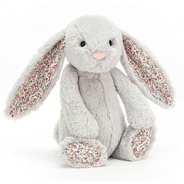 Lapin Blossom small Jellycat gris