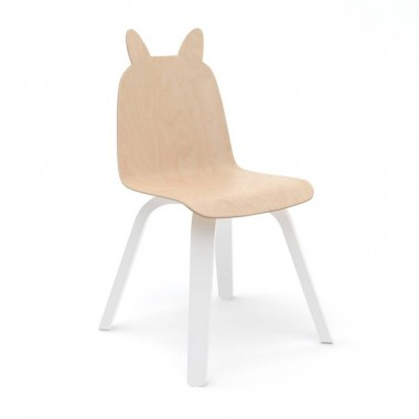 Lot de 2 Chaises Oeuf Lapin Naturel (Birch)