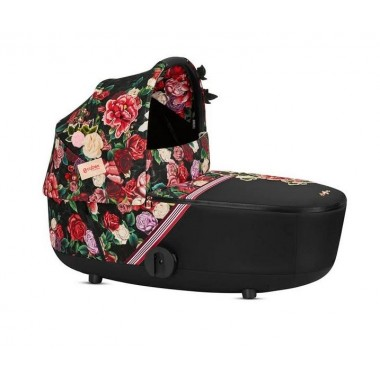 Nacelle Cybex Lux cot Mios, Spring Blossom noir-rouge 2020