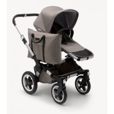 Nouvelle Poussette Mono Donkey² Bugaboo Taupe grips marron chassis Alu