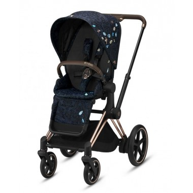 Nouvelle Poussette Priam Cybex Jewels of Nature, châssis Rosegold 2020