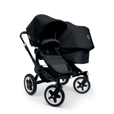 Nouvelle Poussette Double Bugaboo Donkey² Duo All Black