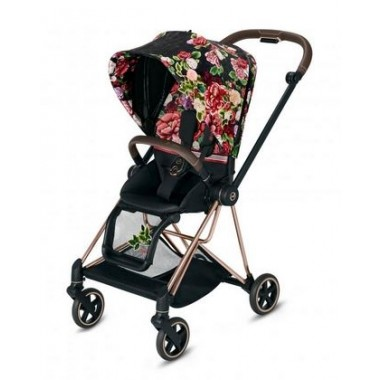 Poussette Mios Cybex Spring Blossom Dark, châssis Rosegold 2020.