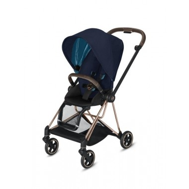 Poussette Cybex Mios 2020 Midnight Blue tissus Plus Châssis Rosegold