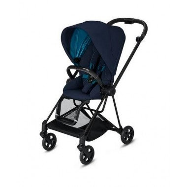 Poussette Cybex Mios 2020 Nautical Blue Châssis Noir Matt