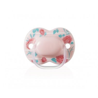 Sucette Little London Closer to Nature Tommee Tippee 0 à 6 mois fille en silicone