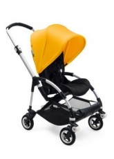 Nouvelle Bugaboo Bee 5 avec capote jaune assise noir chassis Alu