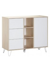 Commode 1 porte 3 tiroirs et 3 niches Sauthon Happy