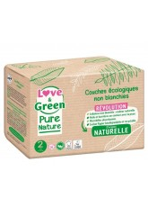 Couches écologiques Love and green Pure nature taille-2