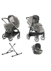 Poussette Inglésina System Quattro Aptica chassis Graphite Coffee Cab Mineral Grey