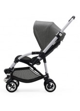 Nouvelle Bugaboo Bee 5 avec capote gris chiné assise noir chassis Alu