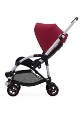 Nouvelle Bugaboo Bee 5 avec capote rouge rubis assise noir chassis Alu