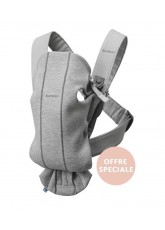 Porte-bébé Babybjorn Baby Carrier Mini light grey 3D Jersey