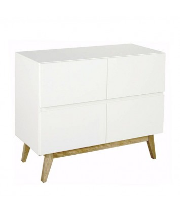 Commode bébé 4 tiroirs Quax Trendy White