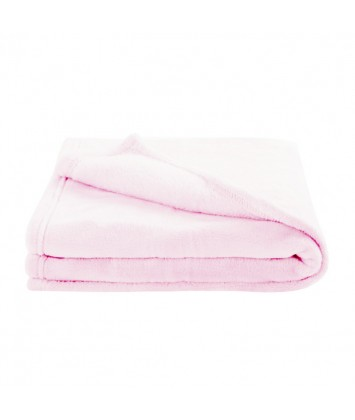 Couverture 75x100 cm Domiva microdoux rose