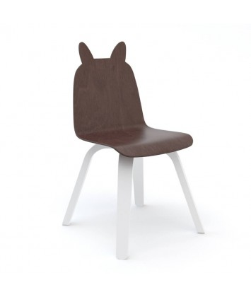 Lot de 2 Chaises Oeuf Lapin Noyer (Walnut)