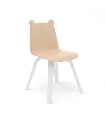 Lot de 2 Chaises Oeuf Ours Naturel (Birch)