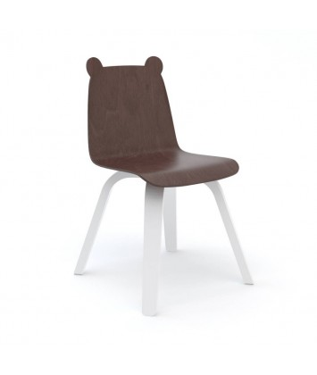 Lot de 2 Chaises Oeuf Ours Noyer (Walnut)