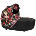 Nacelle Cybex Mios collection Spring Blossom Dark (habillage-pluie inclus)
